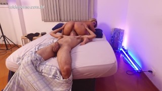 Watch behind the scenes recording a porn scene in Brazil